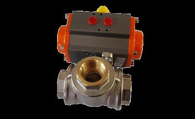 Actuadores giratorios con válvulas